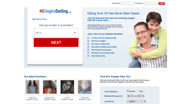 40 singles dating south africa
