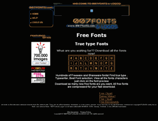 007fonts.com screenshot