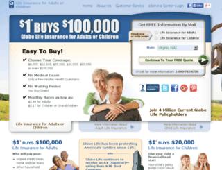 00wl.globelifeinsurance.com screenshot