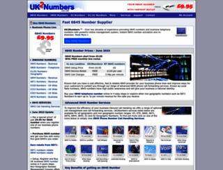 0845.uk2numbers.co.uk screenshot