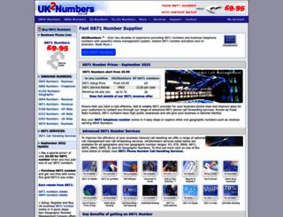 0871.uk2numbers.co.uk screenshot