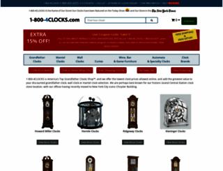 1-800-4clocks.com screenshot