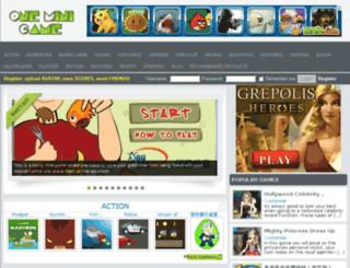 1.oneminigame.com screenshot