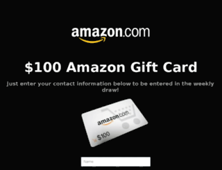 100-amazon-gift-card.myinstapage.com screenshot