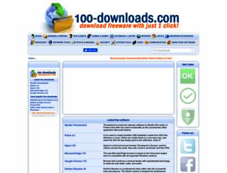100-downloads.com screenshot