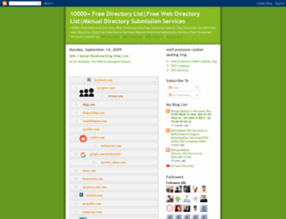 10000freedirectorylist.blogspot.com screenshot