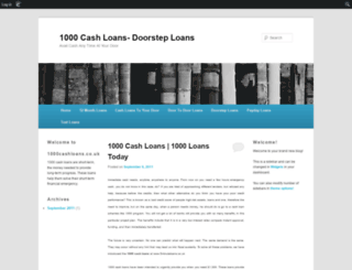 1000cashloans.edublogs.org screenshot