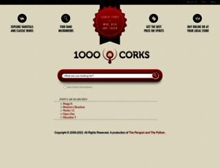1000corks.com screenshot