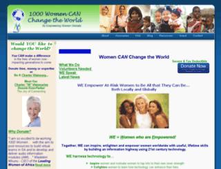 1000womencanchangetheworld.org screenshot