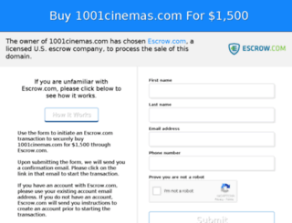 1001cinemas.com screenshot
