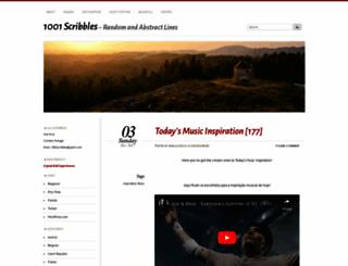 1001scribbles.wordpress.com screenshot