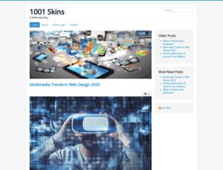 1001skins.com screenshot