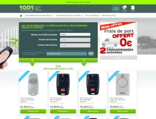 1001telecommandes.com screenshot