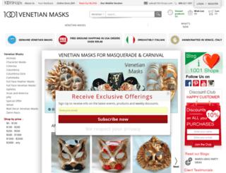 1001venetianmasks.com screenshot