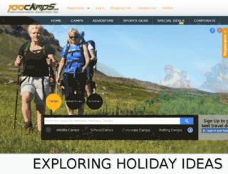100camps.com screenshot