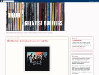 100greatestbootlegs.blogspot.co.uk screenshot