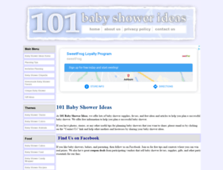 101babyshowerideas.com screenshot