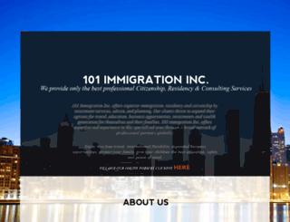 101immigration.ca screenshot