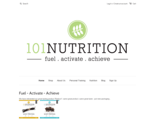 101nutrition.co.nz screenshot