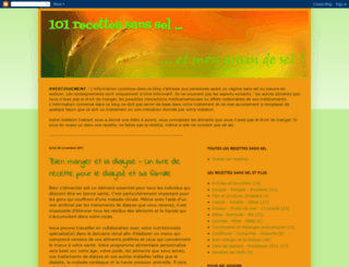 101recettessanssel.blogspot.com screenshot