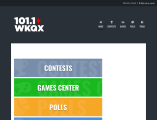 101wkqx.listenernetwork.com screenshot