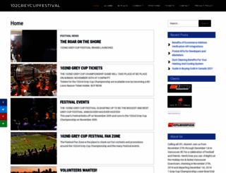 102greycupfestival.ca screenshot