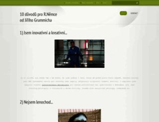 10duvoduprorobertanemce.webnode.cz screenshot