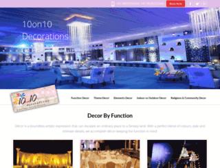 10on10decorations.com screenshot