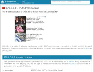 120.ipaddress.com screenshot