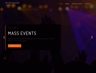 121212concert.org screenshot
