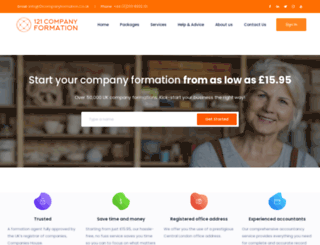 121companyformation.co.uk screenshot