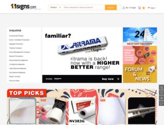 121signs.com screenshot