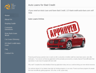 123-bad-credit-auto-loan.com screenshot