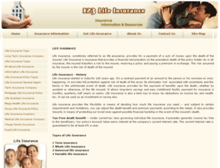 123-life-insurance.com screenshot