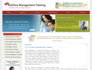 123-online-management-training.com screenshot
