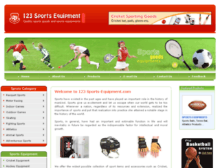 123-sports-equipment.com screenshot