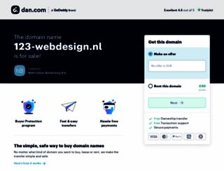 123-webdesign.nl screenshot
