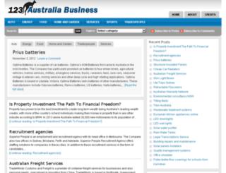 123australiabusiness.com screenshot