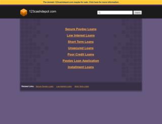 123cashdepot.com screenshot