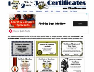 123certificates.com screenshot