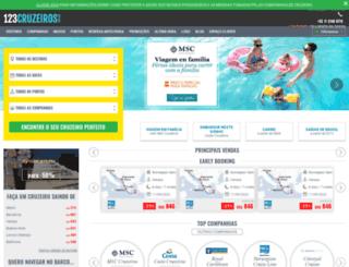 123cruzeiros.com.br screenshot