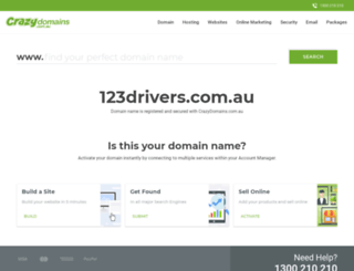 123drivers.com.au screenshot