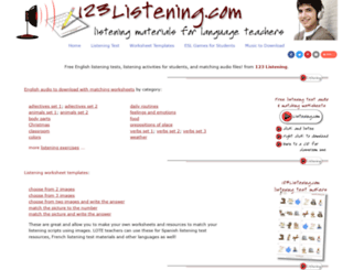 123listening.com screenshot