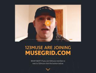 123muse.com screenshot