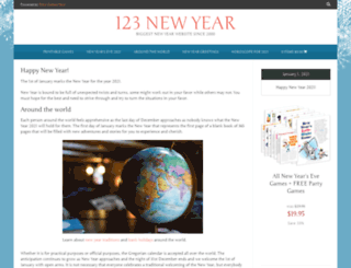123newyear.com screenshot