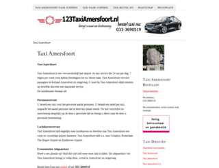 123taxiamersfoort.nl screenshot
