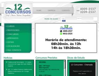 12concursos.com.br screenshot