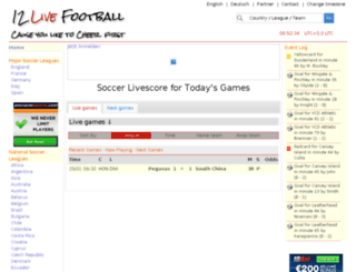 12livescore.com screenshot