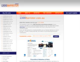 1300barrister.com.au screenshot