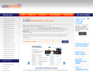 1300bathroom.com.au screenshot